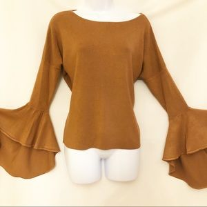 Express Extreme Fluted Sleeve Sweater SZ Med